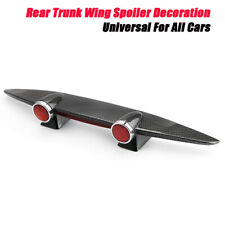 ABS Rear Trunk Wing Spoiler Decoration Universal All Cars Carbon Fiber Veins