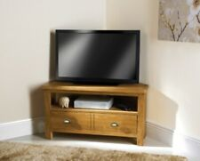 SB19 Stylish Look Wiltshire Oak Corner TV Unit Suitable For TV Screens Up To 42""