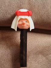 More details for pez vintage very rare sheikh dispenser black stem red headband circa 1972.