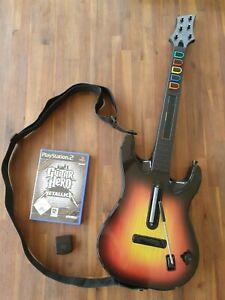 Playstation 2 - Guitar Hero - Guitare + Récepteur + Jeu Metallica
