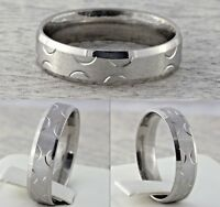 6mm Stainless Steel Mens & Womens Wedding Band New Silver Plated Comfort Ring