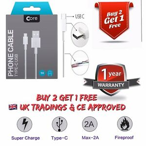 Genuine CORE Samsung USB Type C Fast Charger Lead Cable For Galaxy S8 S9 S10