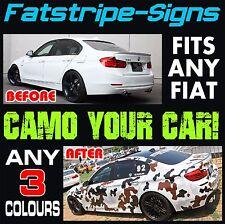 FIAT 500 Decalcomanie Adesivi Grafica Camo Camouflage in vinile a strisce ABARTH 1.0 1.2