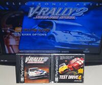 Need For Speed V-Rally 2, Test Drive 4 PS1 Complete Tested SAME DAY SHIPPING