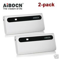 2-pack 10000mAh Portable Power Bank Backup Battery For iPhone 6 7 Samsung S10 S7