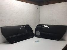 06 07 08 Porsche 987 CAYMAN LEFT RIGHT BLACK INTERIOR DOOR PANELS TRIM W/ BOSE