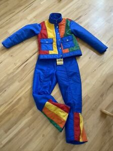 Vintage Ski Suit Jacket Snow Pant Sportcaster Skiing outfit Size Small Retro