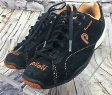 Piloti Prototipo Black Orange Suede Leather Driving Shoes Size 37 EU 5 US