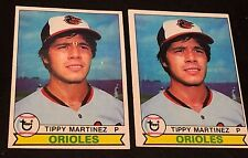 TIPPY MARTINEZ 1979 Topps  ERROR Yellow BLOB Eyebrows Variation OddBaLL #491 SP