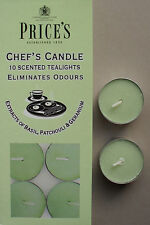 Chef's Scented Candle chefs tealights removes cooking odours pack of 10 Prices