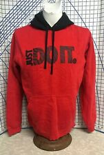 """Mens Large Nike Pullover red hoodie big """"Just Do It"""" logo"""
