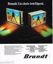 PUBLICITE ADVERTISING 065  1974  BRANDT  téléviseur couleur 67cms