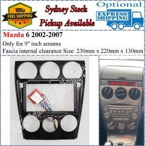 For 9 Nine Inch Screen Fascia facia + Harness Fits Mazda 6 2002-2007 Dash Kit*