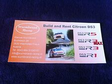 CP POSTCARD CARTOLINA CITROEN DS3 WURMBAND RACING RALLY WRC RALLYE 2014