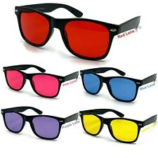 Color Tint Lens Glasses Sunglasses Classic Men Womens Black Classic Retro Red