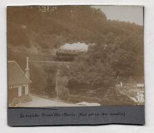 """PHOTO Vintage """"Le rapide Trouville Paris"""" TRAIN LOCOMOTIVE À VAPEUR Vers 1900"""