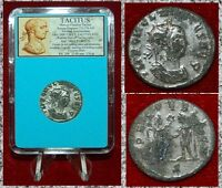 Ancient Roman Empire Coin TACITUS Victory On Reverse Silvered Antoninianus