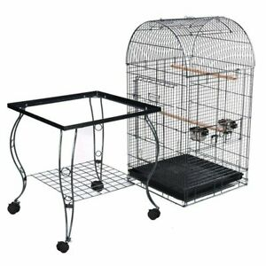 New Pet Bird Open Curve Top Cage Parrot Aviary Canary Budgie Finch Perch Perches