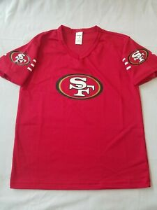 NWT NFL SAN FRANCISCO 49ERS FRANKLIN FOOTBALL MESH MEDIUM YOUTH BOYS KIDS JERSEY
