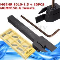 MGEHR 1010-1.5 10*10*100mm External Grooving Lathe Holder w/ MGMN150-G Insert