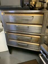 Blodgett 911 double gas deck pizza oven with stones - excellent