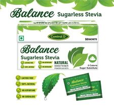 BALANCE Sugarless Stevia Natural Sweetener 500 Packets ORGANIC Kosher Certified