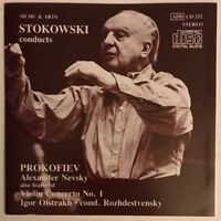 STOKOWSKI CONDUCTS PROKOFIEV CD RARE 1987 JAPAN USA PRESS NEAR MINT