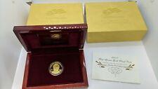 2007-W $10 Martha Washington Gold First Spouse PROOF Coin - Box & COA