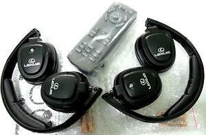 OEM 2015-2019 Lexus LX570 LX 570 Car Rear Entertainment 1 Remote +2headphones