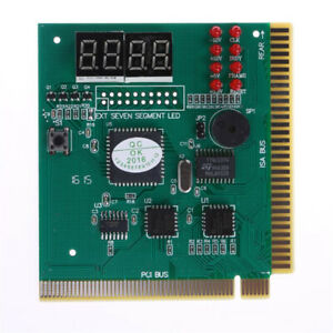 4-Digit LCD Display Diagnostic Card Ribbon Cable Motherboard Tester PCI Card
