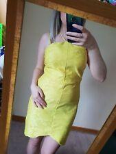 Topshop super bright yellow lace scallop edge strappy bodycon dress Summer 12
