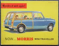 MORRIS MINI TRAVELLER Car Sales Brochure March 1960 #H&E 603
