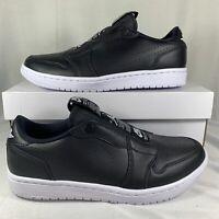 Nike Air Jordan 1 Low Slip On Black White AV3918 001 Women's Size 9.5 New CS1303