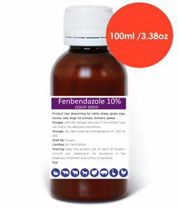 100-500ml Fenbendazole 10% Liquid Suspension Dewormer Panacur Safe Guard Dog