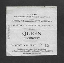 QUEEN : City Hall Newcastle upon Tyne 1979 UK Crazy Tour Concert Ticket Stub