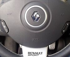 Genuine Renault Clio III 197 200 RS steering wheel trim Renaultsport Badge Logo