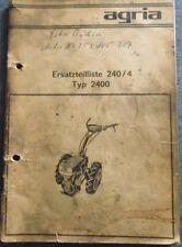 Agria Einachser 2400 Ersatzteilliste