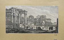 """Eau-forte sur vergé, """"Monuments en ruine 2"""", XVIIIème, Chedel"""