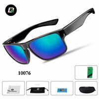 ROCKBROS Polarized Bicycle Full Frame Black Sports Sunglasses Glasses Black Blue