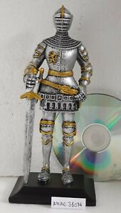 MEDIEVAL CRUSADER KNIGHT STATUE WITH SWORD NEW