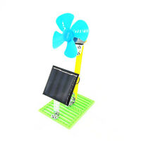 DIY Solar Powered Electric Fans Physics Motor Circuit Device Kit Science Toy