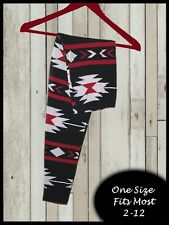 Red Aztec Nights One Size Amazing Buttery Soft Leggings