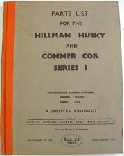 HILLMAN Husky COMMER Cob Series I Original Van Parts List Jan 1958 KG.503