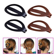 2 Pairs Hair Updo Clip Bun Maker Barrette Plastic Styling Tools for Women