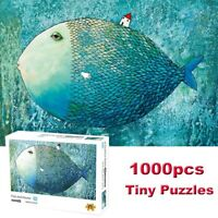 Fish and House Puzzles 1000 Pieces Jigsaw Kid Adult Educational Toy Family Game