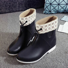 Womens Ladies Fur Lined Wellies Festival Winter Rain Snow Wellington Ankle Boots