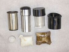 2 MICROSCOPE OCULARS & LENS LOT – 7.5 & 5X
