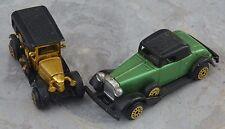 Lot de 2 voitures des années 1920 et 1930, échelle de type 1/69,