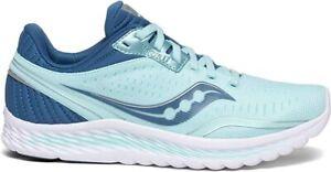 Saucony Women's Kinvara 11 Running Shoe, Aqua/Blue, 11.5 B(M) US