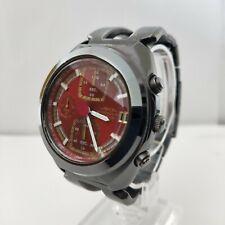 SEIKO ALBA AKA Mens watch V657 6030 chronograph Quartz analog black red